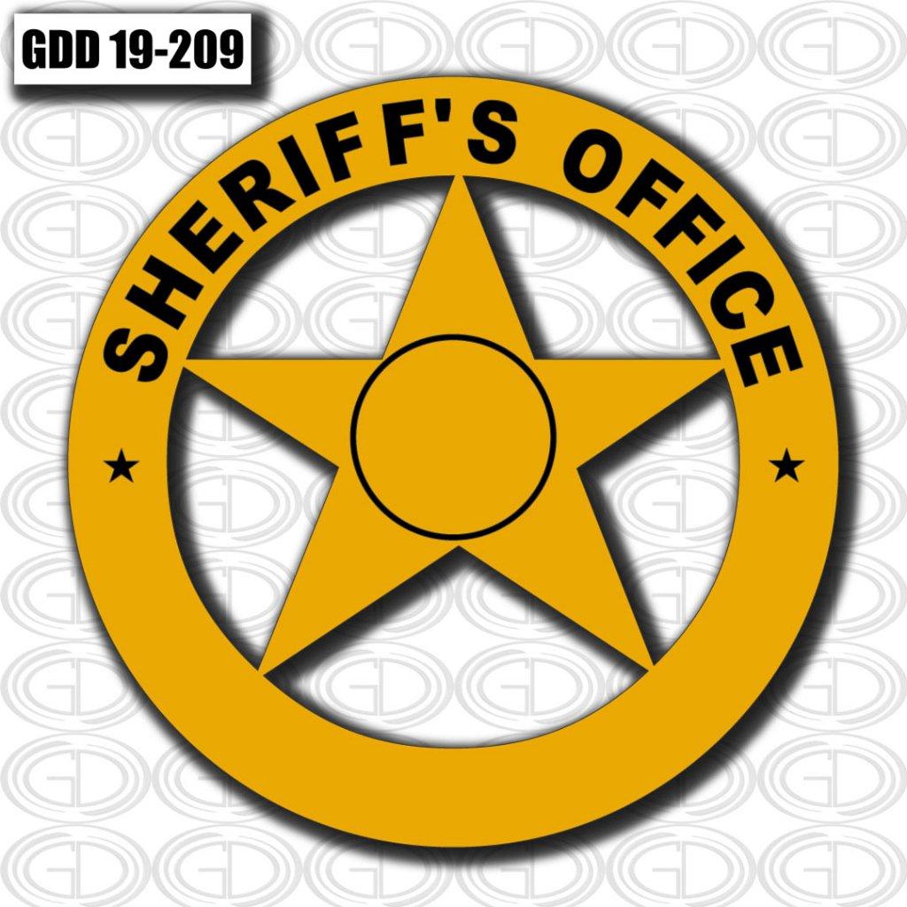 yellow star sheriff office logo design