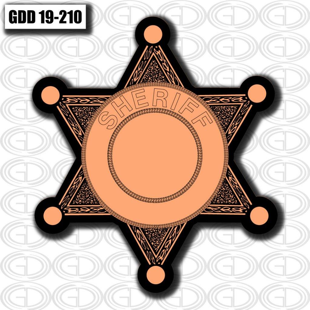 peach star sheriff logo design