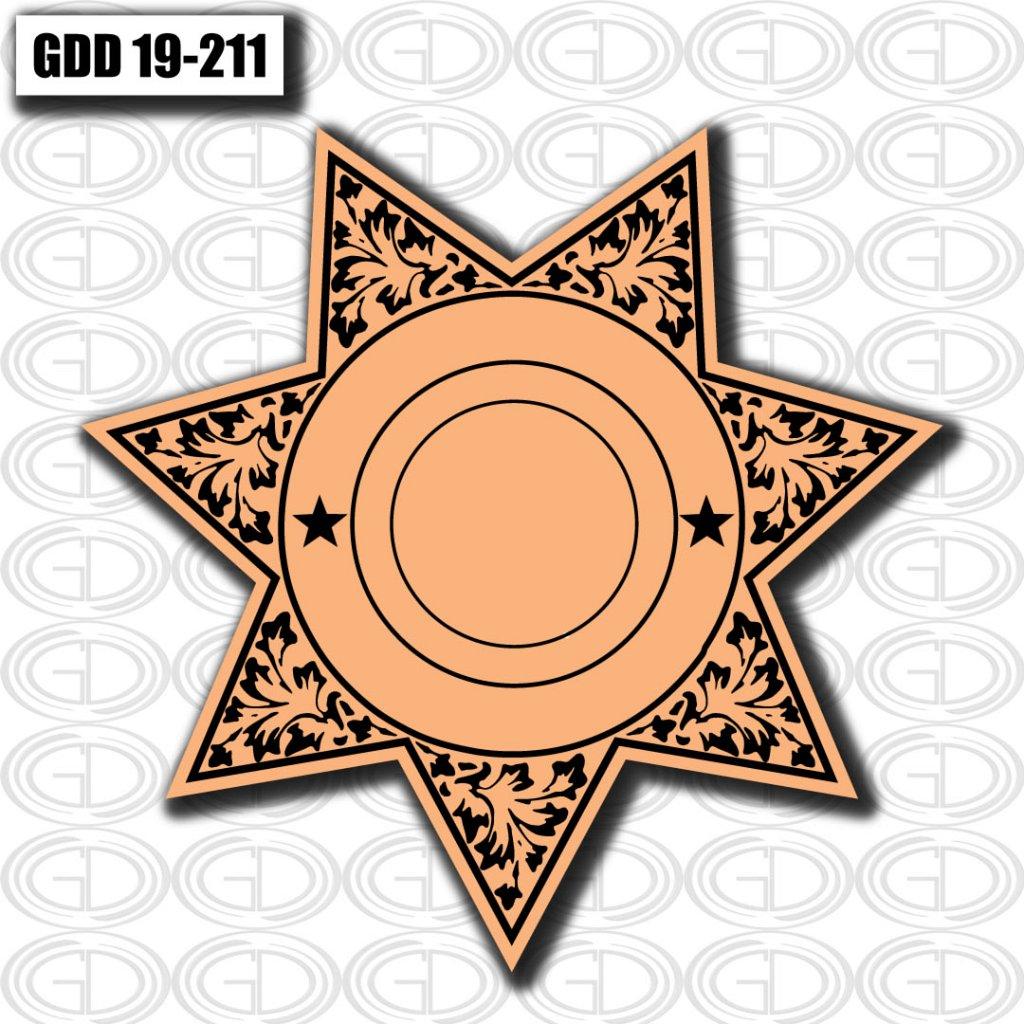 star circle graphic logo design