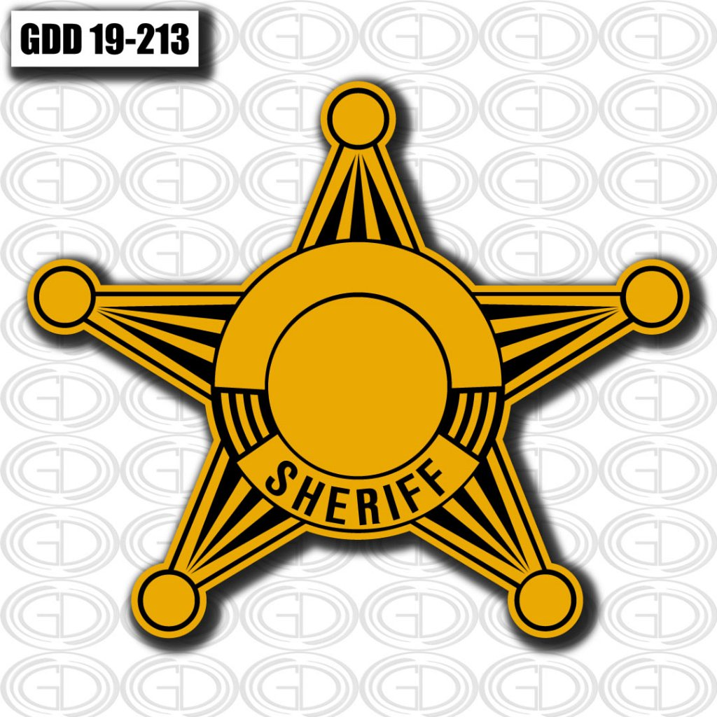 gdi sketch gold sheriff star logo design