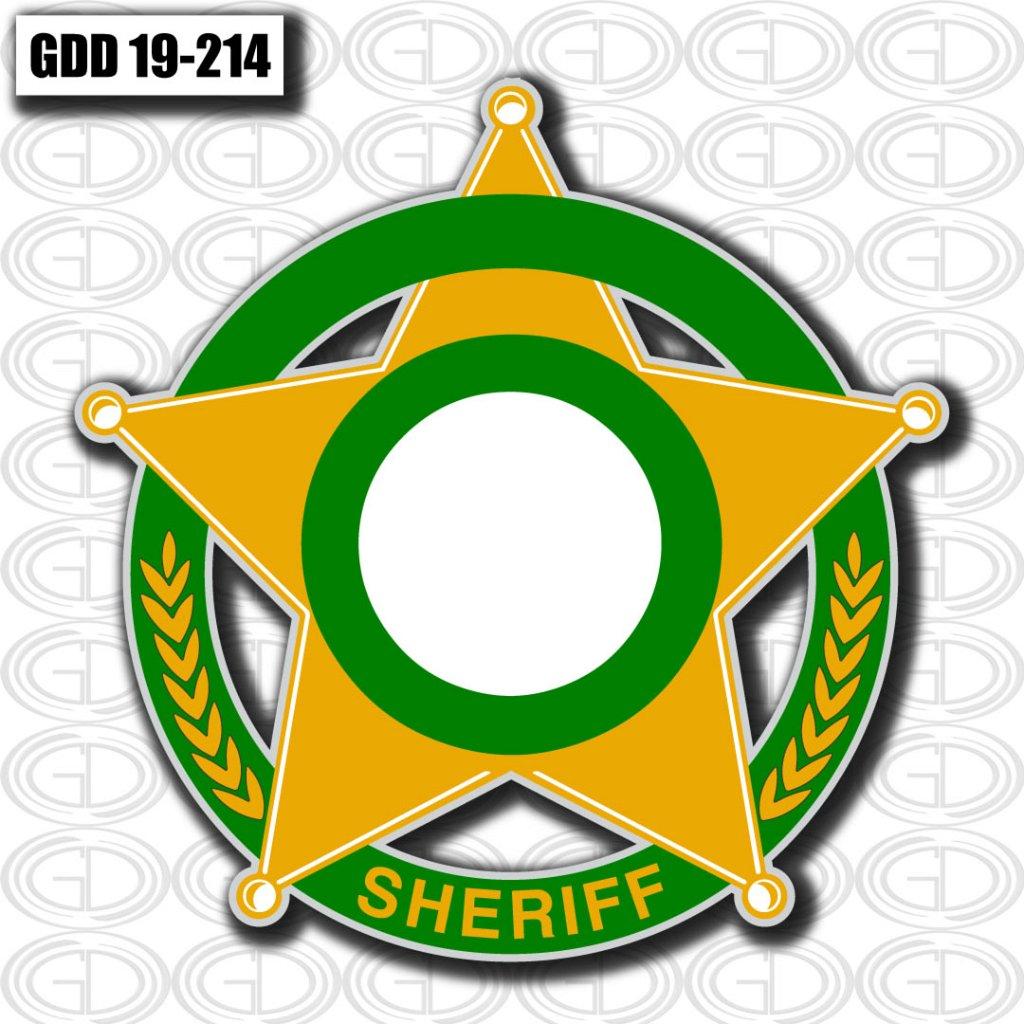 gdi designed star logo design for sheriff