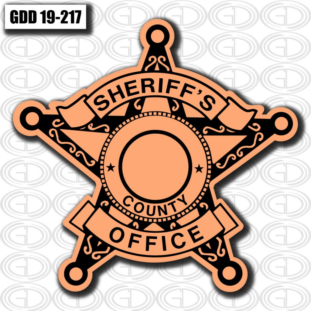 gdi sketch star style sheriff office logo design