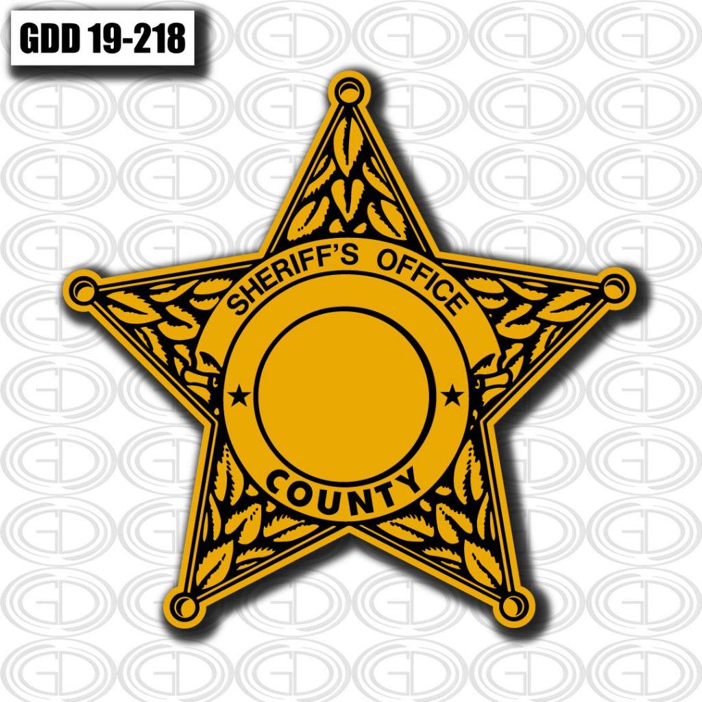 sheriff office logo graphic star design