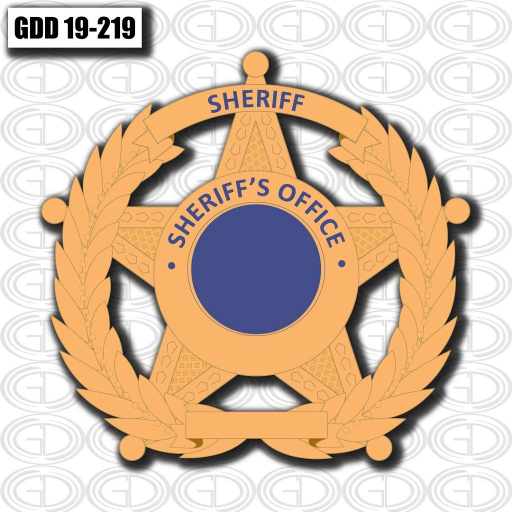 sheriff office star logo graphic design