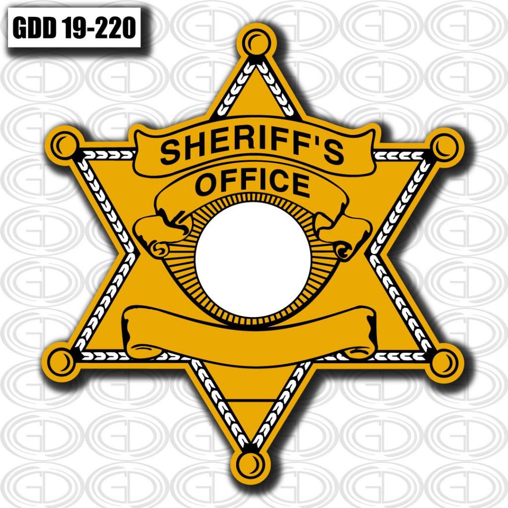 gdi sketch gold star sheriff office logo design