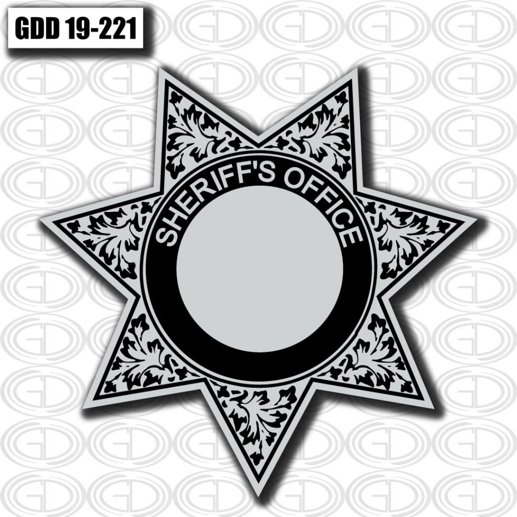 gdi sketch sheriff office logo black and grey design