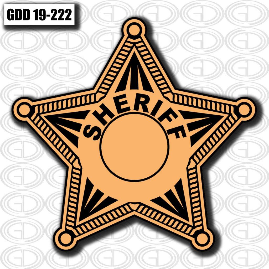 gdi designed star logo for sheriff