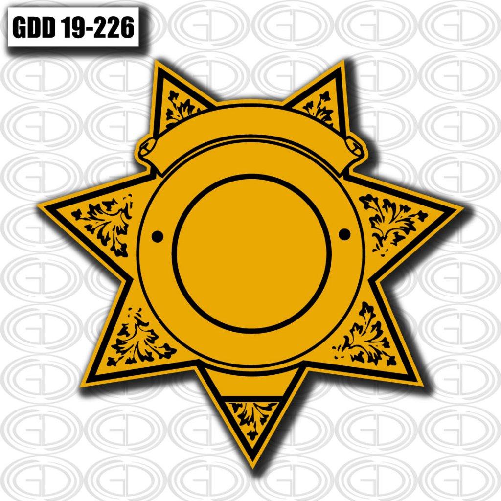 no label star and circle yellow logo design