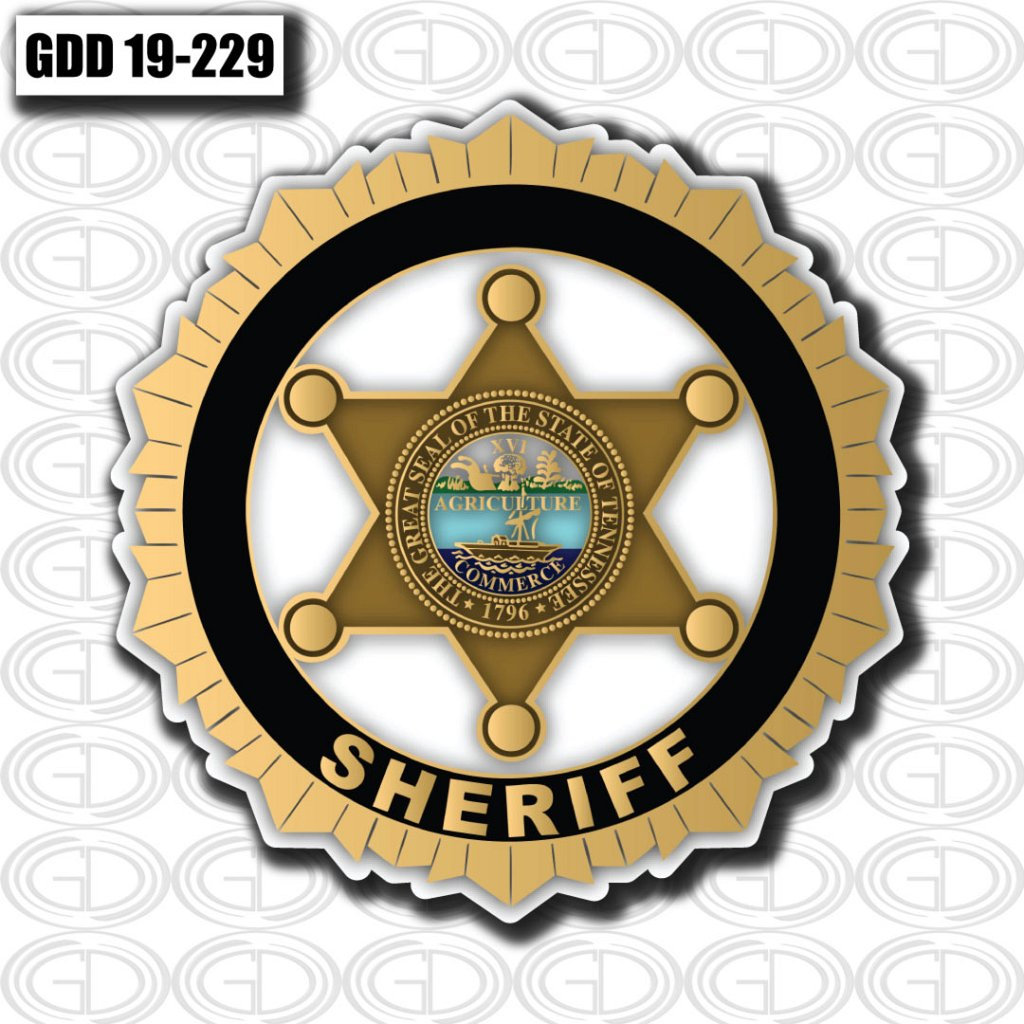 gdi designed sheriff logo design to the state of tennessee