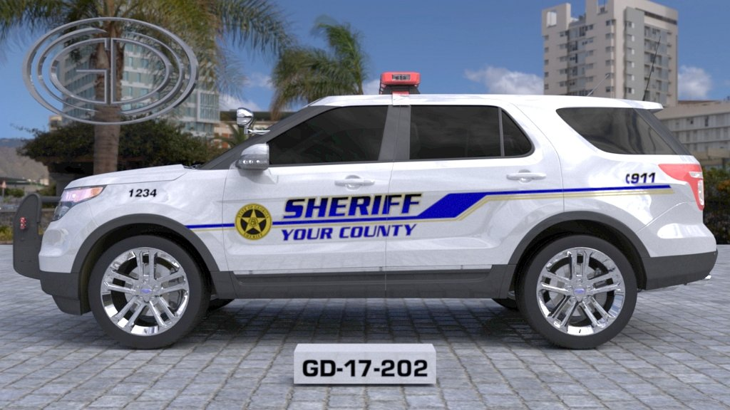 sideview design of a your county sheriff suv car GD-17-202