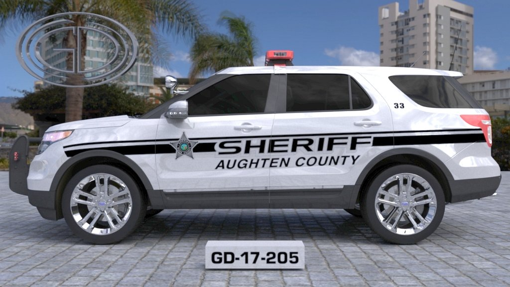 sideview design of augthen county sheriff suv car GD-17-205