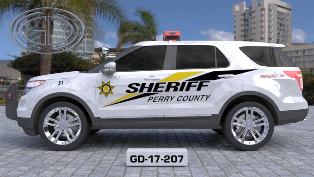 sideview design of a perry county sheriff suv car GD-17-207