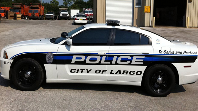 sideview design of a city of largo police car