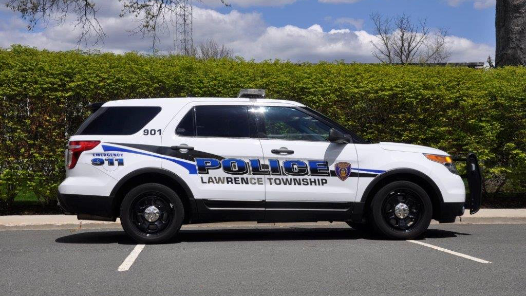 sideview design of a lawrence township police suv car