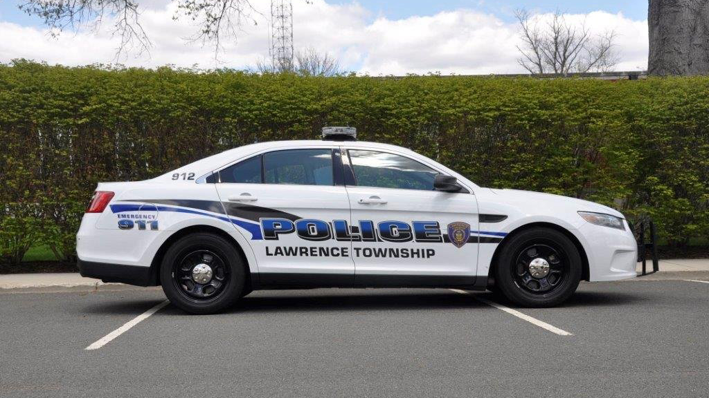 graphic design of lawrence police car