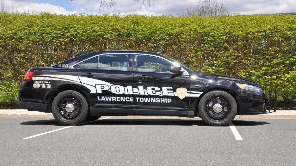 black lawrence police car graphic design