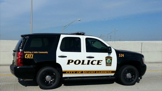 sideview design of a police suv car city of miami gardens