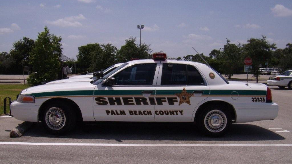 palm beach white and green sheriff car graphic design