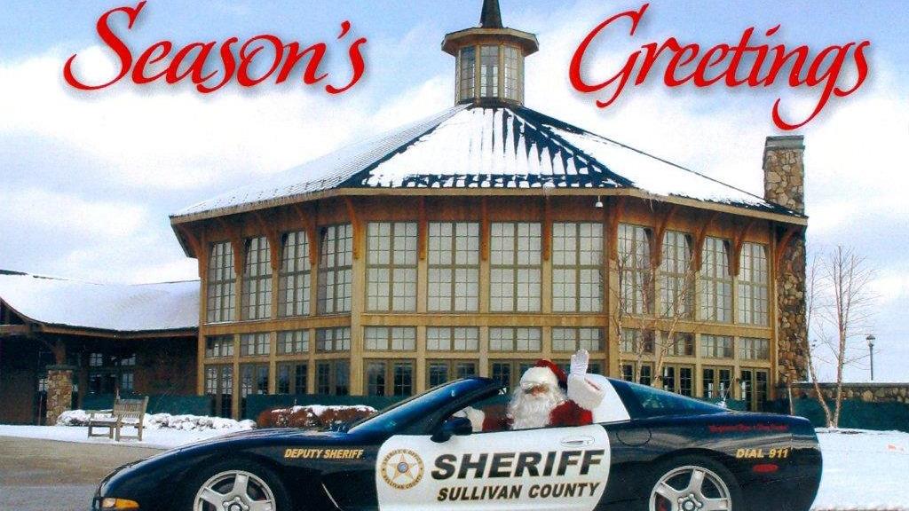 graphic design of sullivan sheriff car on seasons greetings