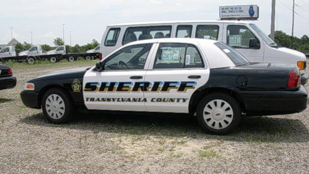 transylvania black and white sheriff car with logo design