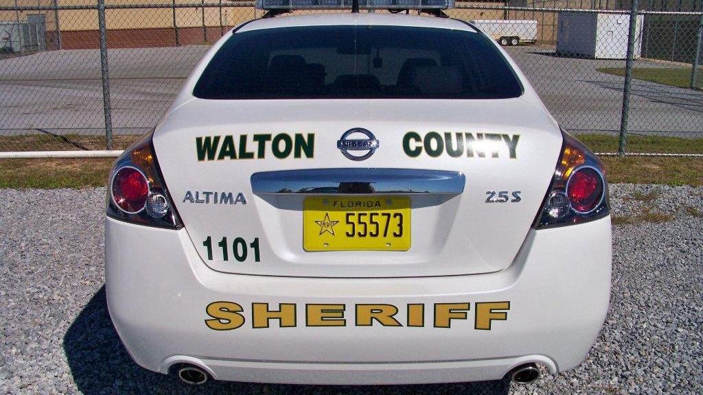 back of walton white sheriff car