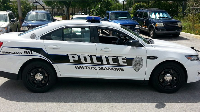 graphic design of wilton manors police car