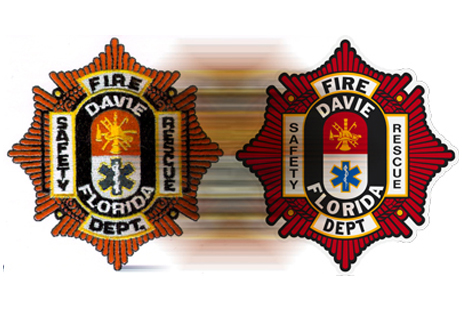red and orange fire department logo graphic design