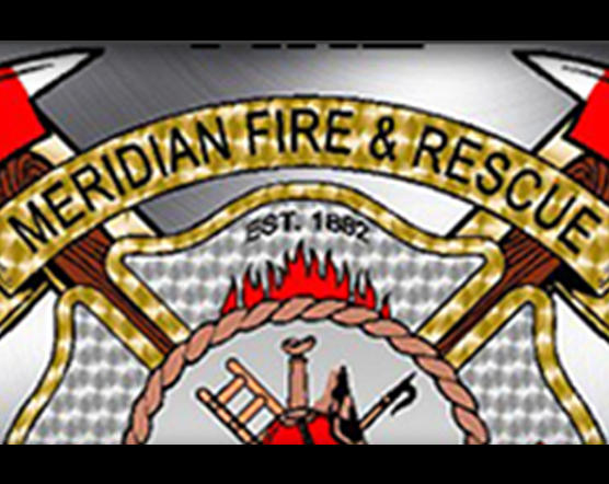 gdi gold logo with text of meridian fire & rescue